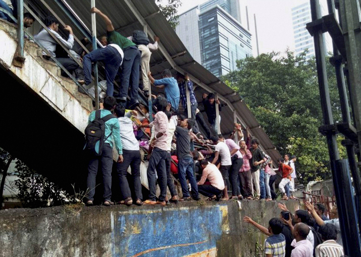 Passengers caught in a stampede at Elphinstone railway