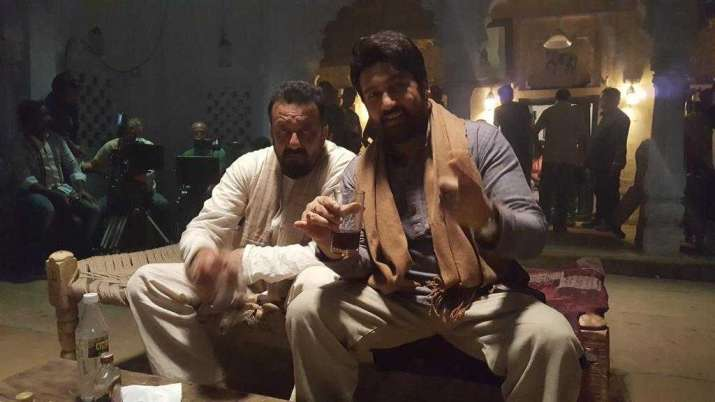 India Tv - Sanjay Dutt and Shekhar Suman in Bhoomi