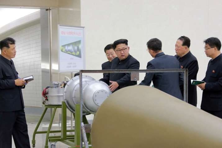 India Tv - State media said Kim Jong Un inspected loading of hydrogen bomb into a ICBM