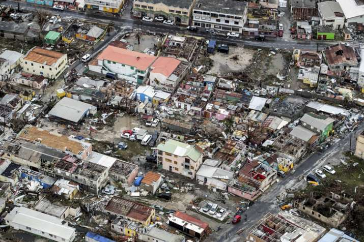 India Tv - Storm damage in the aftermath of Hurricane Irma in St. Maarten