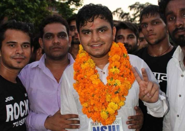 File pic - NSUI's Rocky Tusheed won president's post by a