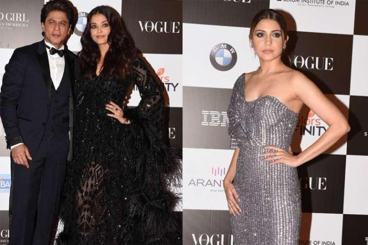 Shah Rukh Khan, Aishwarya Rai Bachchan, Anushka Sharma-