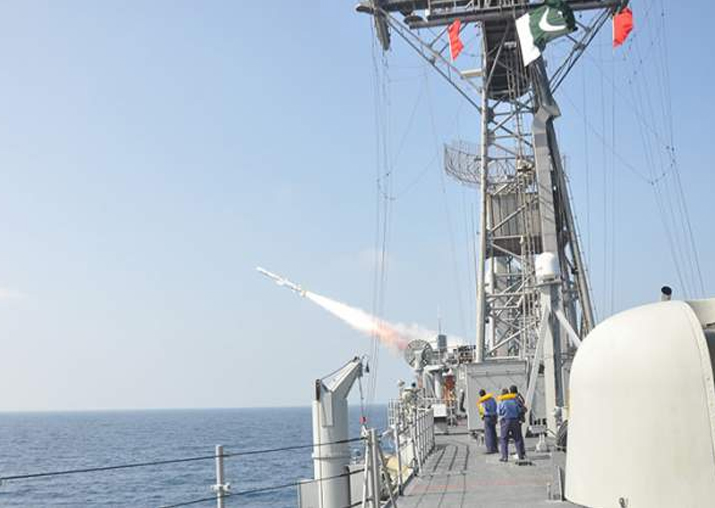 Pakistan fires anti-ship missile into Arabian Sea