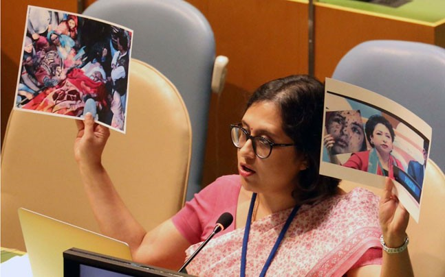 Paulomi Tripathi at UN General Assembly