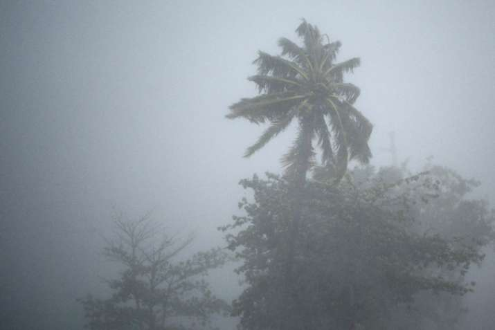 India Tv - The heavy rains and wind of hurricane Irma in Fajardo, Puerto Rico, Wednesday