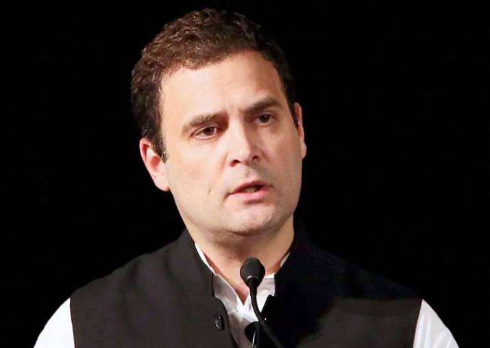 Rahul Gandhi delivering a speech at Institute of