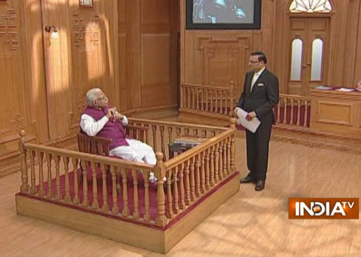 India TV Editor-in-chief Rajat Sharma grills Haryana CM