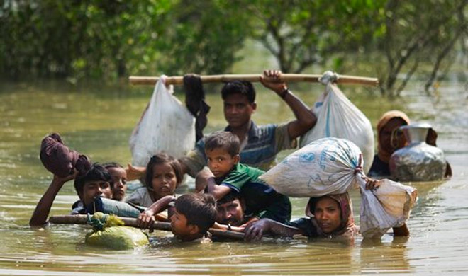 UN estimates suggest that 370,000 Rohingya refugees have