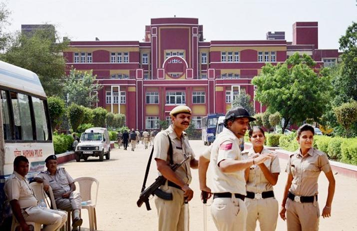 File pic - Cops outside Ryan International School in