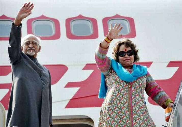 Salma Ansari with former Vice-President Hamid Ansari