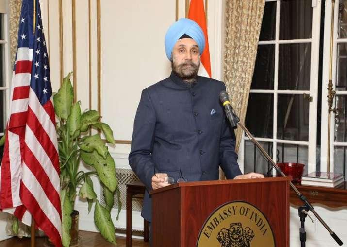 File pic of India's ambassador to the US Navtej Sarna