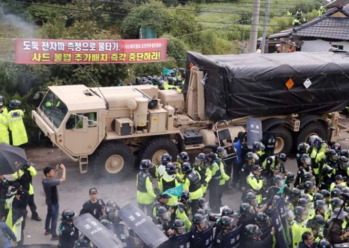 US adds launchers to THAAD as dozens hurt in South Korea