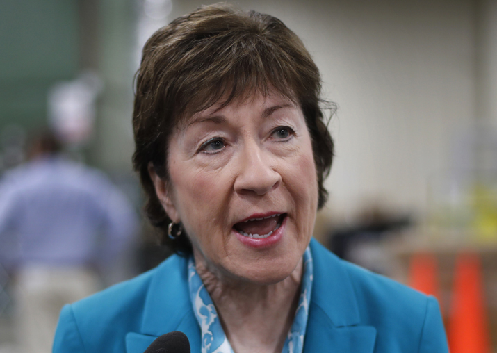 File pic - Susan Collins opposes Trump, bill to repeal