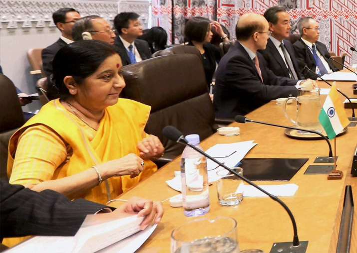 Sushma Swaraj at BRICS Meet at the United Nations in New