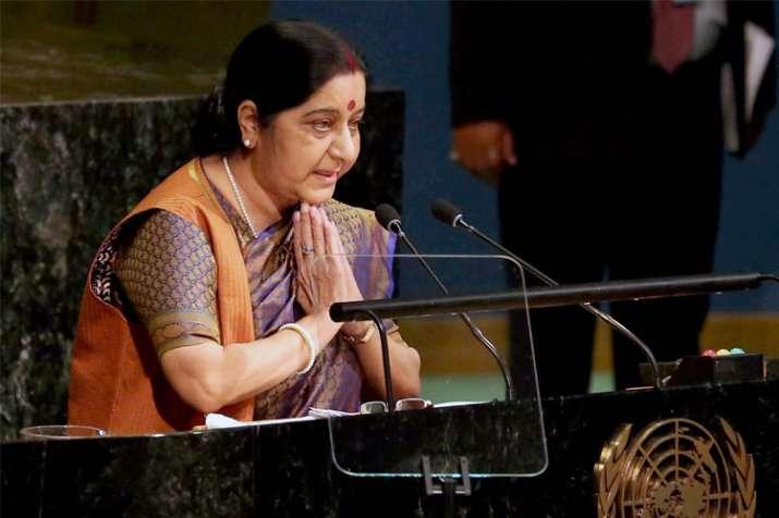 Sushma Swaraj at UN General Assembly