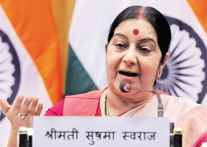 File pic of Sushma Swaraj