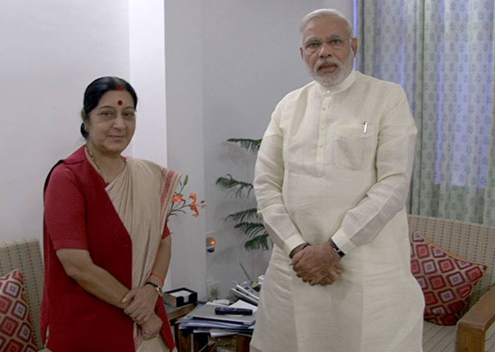 File pic - PM Modi hails Sushma Swaraj for her UNGA speech