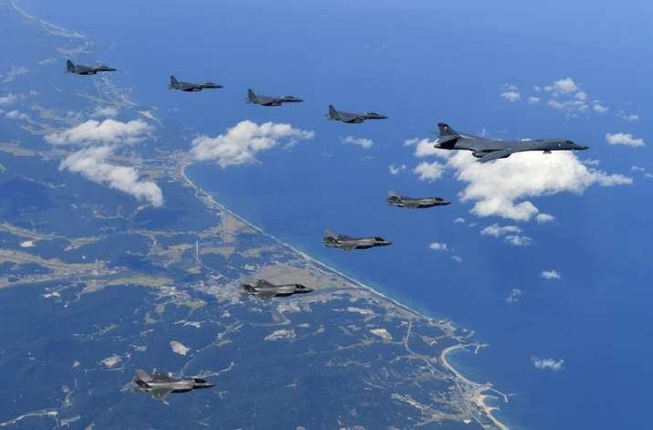 India Tv - US B-1B, F-35B and South Korean F-15K fly over Korean Peninsula during jt drills