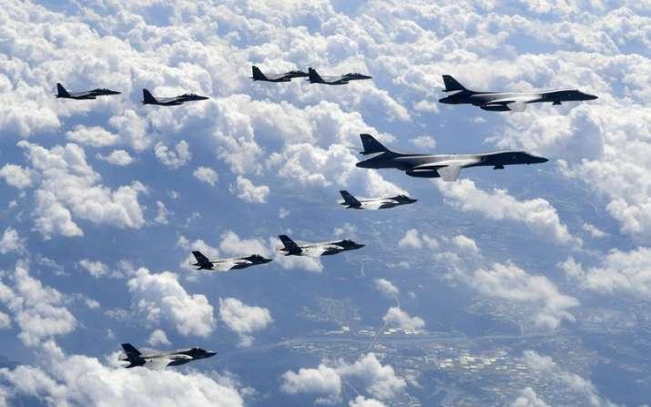 India Tv - US B-1B, F-35B and South Korean F-15K fly over Korean Peninsula