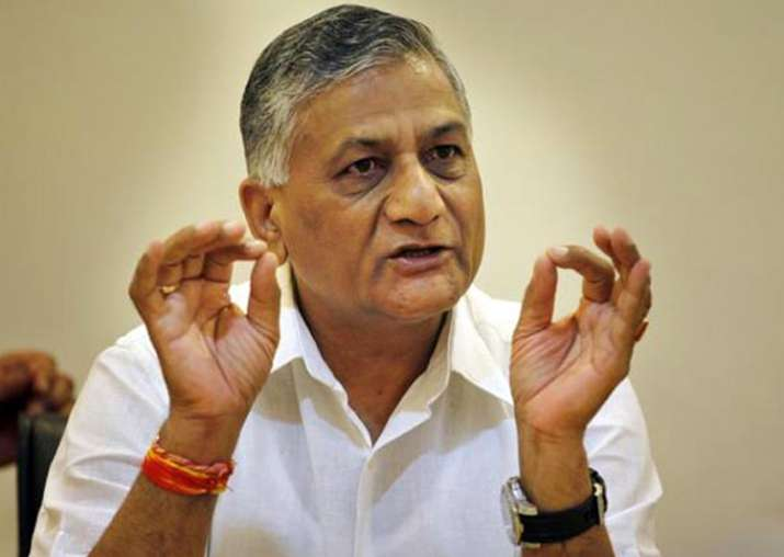 Union Minister of State for External Affairs VK Singh