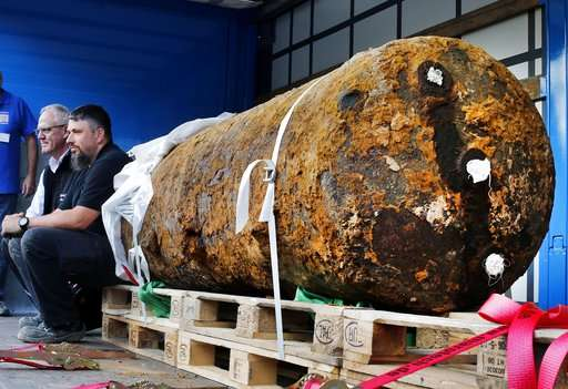 The 1.4 tonne British bomb was found on a building site