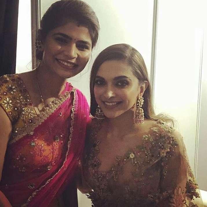 India Tv - Deepika Padukone with Chinmayi at Jio Filmfare Awards Marathi