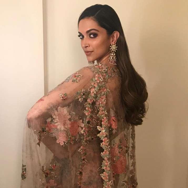 India Tv - Deepika Padukone in Sabyasachi at Jio Filmfare Awards Marathi