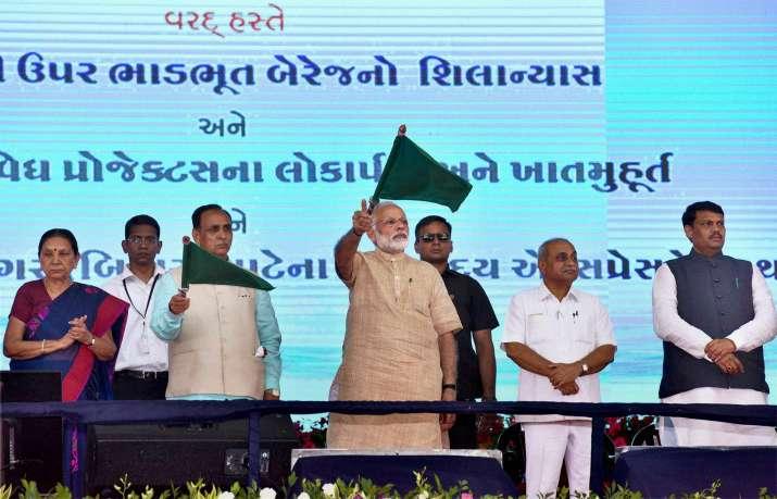 PM Modi concludes Gujarat tour with tumultuous welcome at