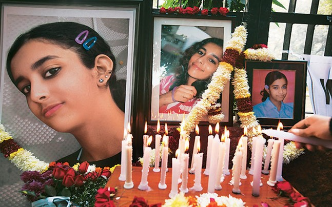 Aarushi, 14, was found dead inside her room at her parents'