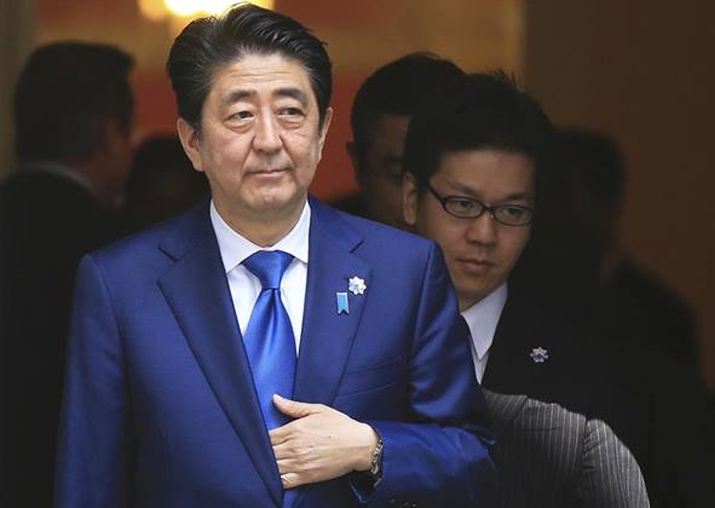 File pic of Japan PM Shinzo Abe