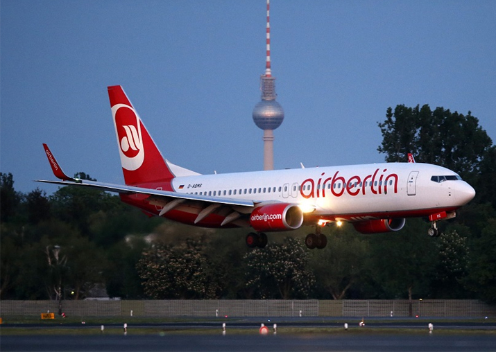 Bankrupt German airline Air Berlin operates last flights