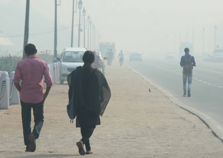 File pic - Strong winds helping dissipate pollutants in