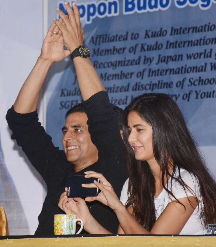 India Tv - Katrina Kaif was seen in a white t-shirt and denims. Without any makeup, the naturally beautiful actress was looking at her fashion best