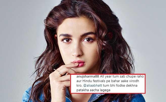 Alia Bhatt trolled for supporting eco-friendly Diwali