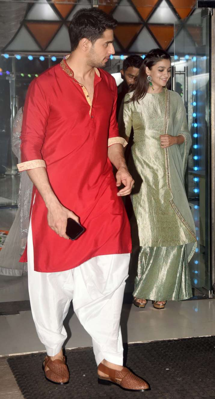 India Tv - Alia-Sidharth were spotted entering the party together