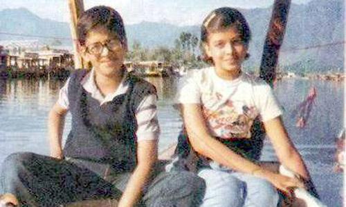 India Tv - Aishwarya Rai in her childhood picture with brother Aditya