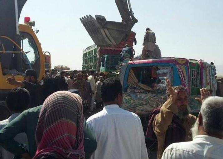 14 dead, 30 injured in bus-van collision in Pakistan's
