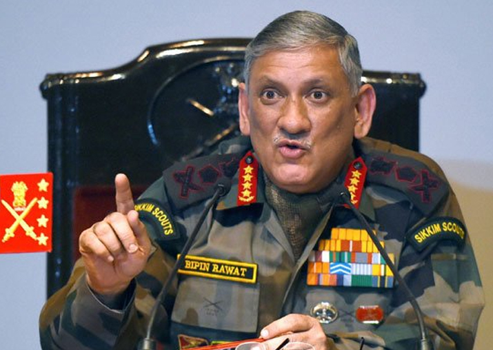 File pic of Army Chief General Bipin Rawat