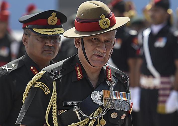 File pic of General Bipin Rawat