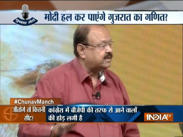 Jay Narayan Vyas at India TV Chunav Manch
