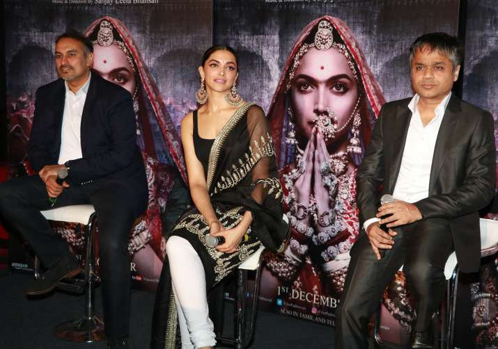 India Tv - Deepika Padukone at Padmavati 3D trailer launch