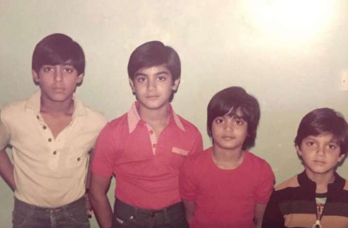 Salman Khan throwback childhood picture