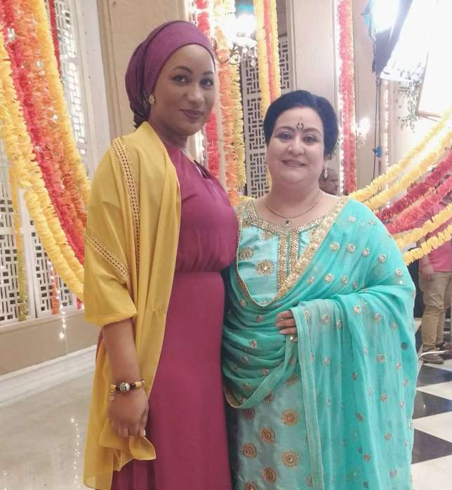 India Tv - Ghana's Vice President's wife Samira Bawumia with Kumkum Bhagya cast