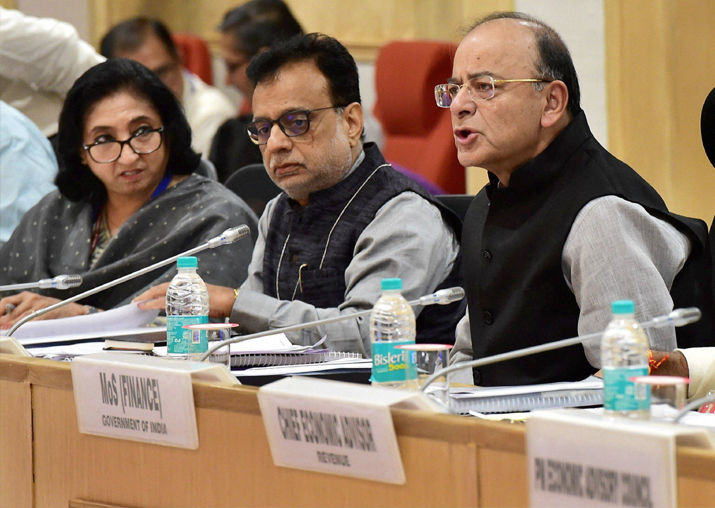 Arun Jaitley, Hasmukh Adhia at 22nd meeting of the GST