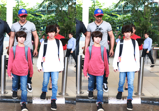 India Tv - Hrithik Roshan with his kids
