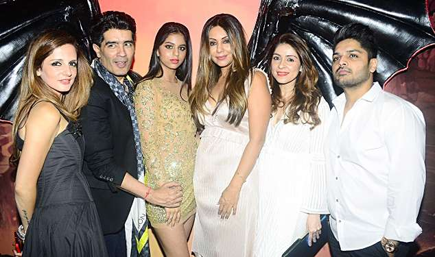 India Tv - Ace designer Manish Malhotra and Sussanne Khan were also present at the party