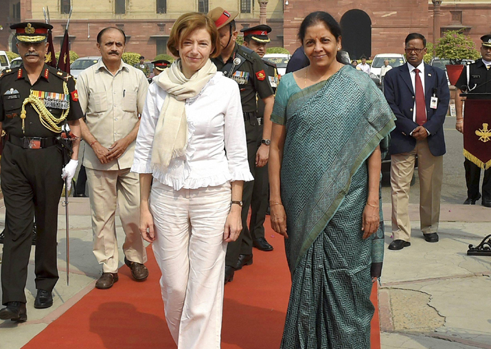 Nirmala Sitharaman with her French counterpart Florence