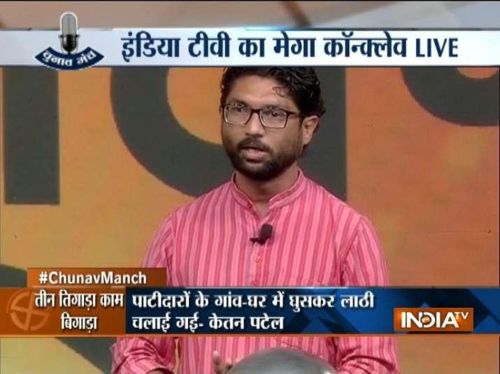 Dalit leader Jignesh Mevani at India TV Chunav Manch