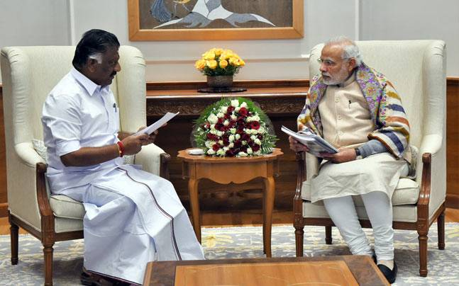 Tamil Nadu Dy CM O Panneerselvam to meet PM Modi today