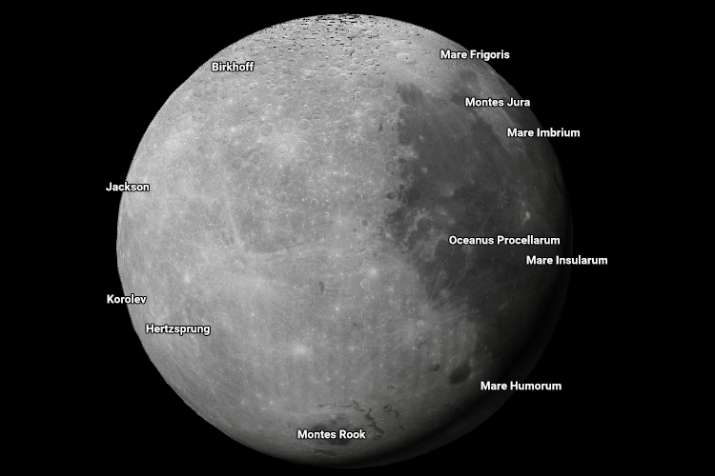 Moon as seen by Google Maps